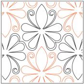Madagascar quilting pantograph pattern by Patricia Ritter and Denise Schillinger