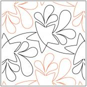 Outburst quilting pantograph pattern by Patricia Ritter Urban Elementz