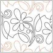 Perennial quilting pantograph pattern by Patricia Ritter and Denise Schillinger
