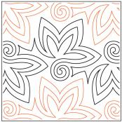 Radicchio quilting pantograph pattern by Patricia Ritter and Denise Schillinger