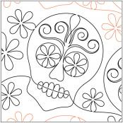 INVENTORY REDUCTION...Sugar Skull quilting pantograph pattern by Patricia Ritter of Urban Elementz