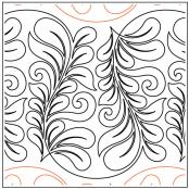 Topaz quilting pantograph pattern by Patricia Ritter Urban Elementz