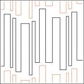 Vertical Lines quilting pantograph pattern by Patricia Ritter Urban Elementz