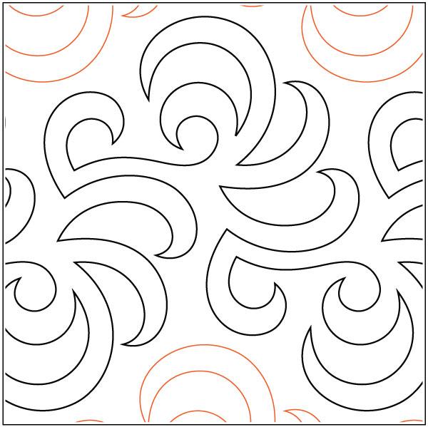 Airborne-quilting-pantograph-pattern-Barbara-Becker