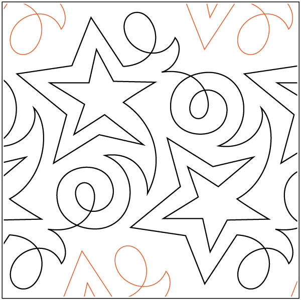 Beckers-Shooting-Star-quilting-pantograph-pattern-Barbara-Becker