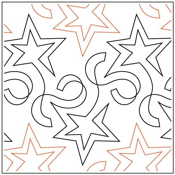 Star-Streamers-quilting-pantograph-pattern-Barbara-Becker
