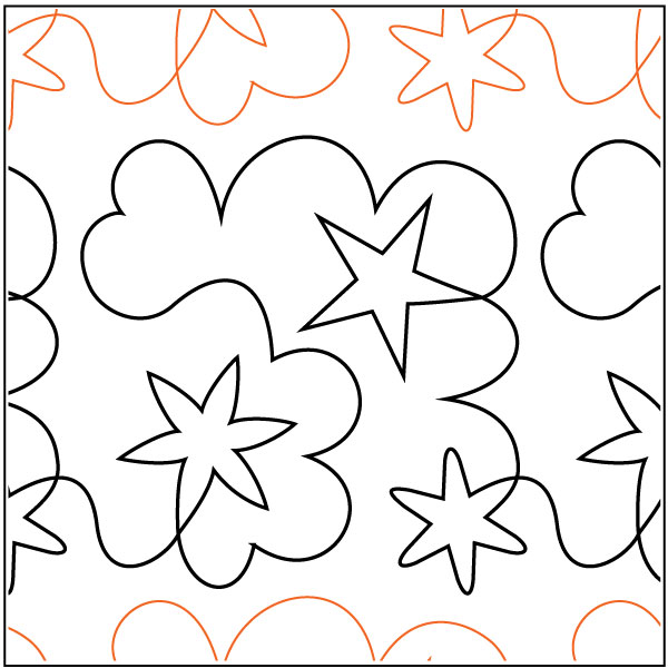 Pantograph Patterns For Long Arm Quilting : Starry Dreams pantograph pattern by Barbara Becker