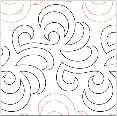 Airborne pantograph pattern by Barbara Becker