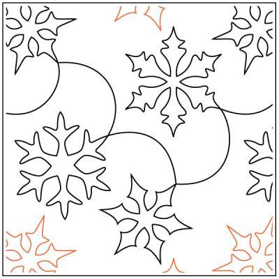 Snow Clams pantograph pattern by Barbara Becker