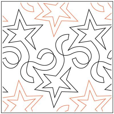 INVENTORY REDUCTION...Star Streamers pantograph quilt sewing pattern by Barbara Becker