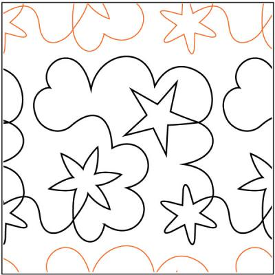 Starry Dreams pantograph pattern by Barbara Becker