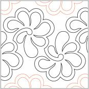 Feathers-in-Bloom-quilting-pantograph-pattern-Barbara-Becker