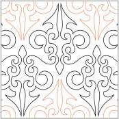 Four-Paws-Filigree-quilting-pantograph-pattern-Barbara-Becker