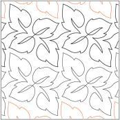 Leaf-Quartet-quilting-pantograph-pattern-Barbara-Becker