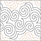 Outside In quilting pantograph by Barbara Becker - Four Paws