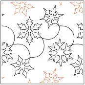 Snow Clams pantograph pattern by Barbara Becker 1