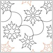 Snow-Clams-quilting-pantograph-pattern-Barbara-Becker