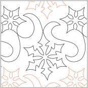 INVENTORY REDUCTION...Snow Winds pantograph pattern by Barbara Becker