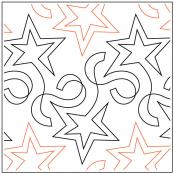 Star Streamers pantograph quilt sewing pattern by Barbara Becker