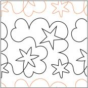 INVENTORY REDUCTION...Starry Dreams pantograph pattern by Barbara Becker