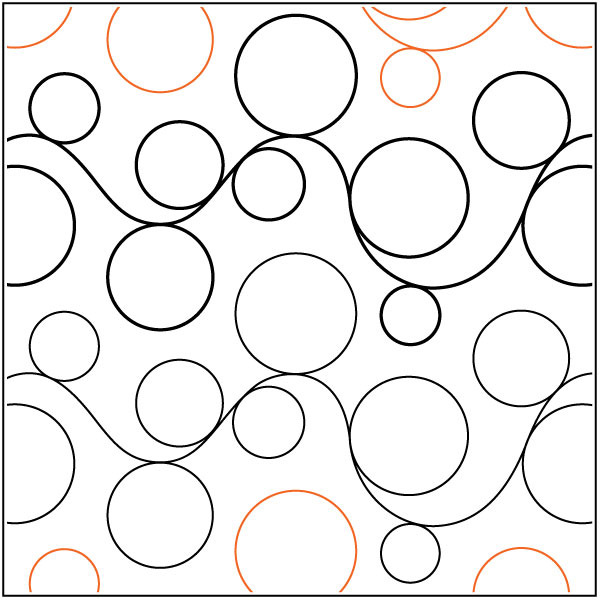 Double-Bubble-2-quilting-pantograph-pattern-Patricia-Ritter-Urban-Elementz