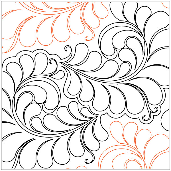Curly Feathers paper roll pantograph