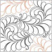 Curly Feathers quilting pantograph pattern by Jessica Shick 1