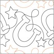 INVENTORY REDUCTION...Horseshoes quilting pantograph pattern by Jessica Shick