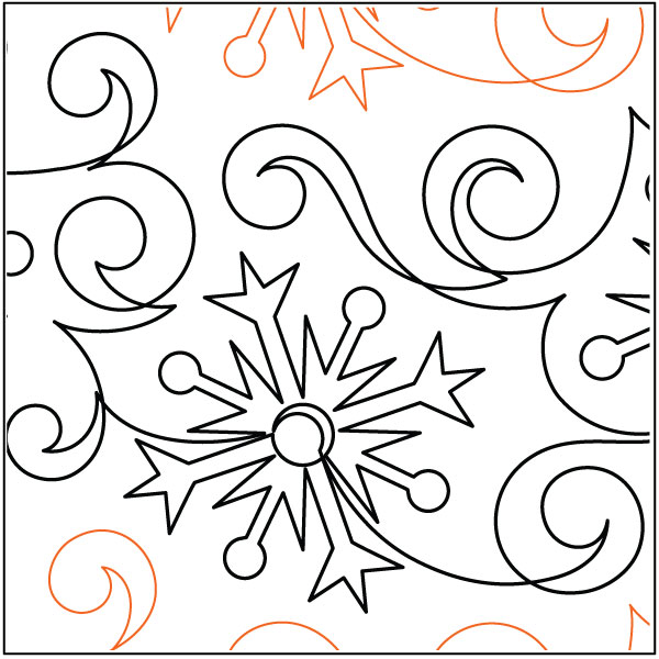 Flurries-quilting-pantograph-sewing-pattern-Lisa-Calle-1