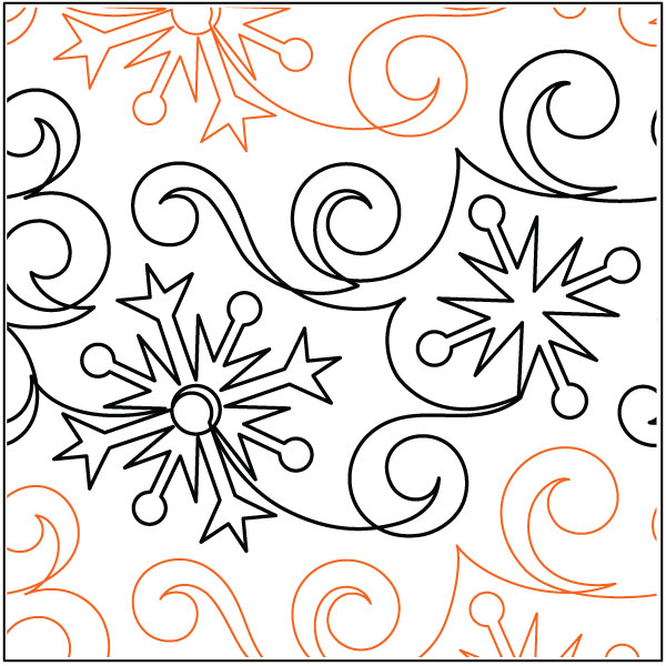 Flurries-quilting-pantograph-sewing-pattern-Lisa-Calle-2