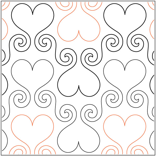Hearts-Abound-quilting-pantograph-sewing-pattern-Lisa-Calle
