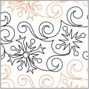 Flurries quilting pantograph sewing pattern by Lisa Calle 2