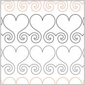 INVENTORY REDUCTION...Hearts Abound Border quilting pantograph sewing pattern by Lisa Calle