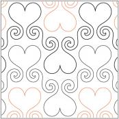 Hearts Abound quilting pantograph sewing pattern by Lisa Calle