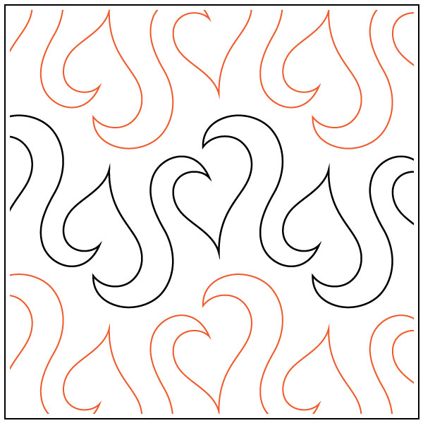 leafy-love-quilting-pantograph-pattern-Lorien-Quilting