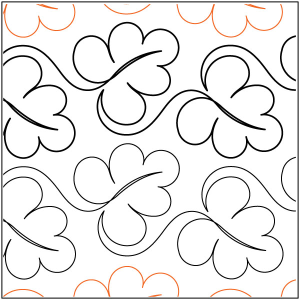 Abundant Leaves quilting pantograph pattern by Lorien Quilting : lorien quilting - Adamdwight.com