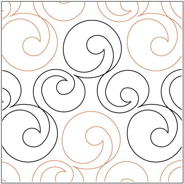 Bubbles quilting pantograph pattern by Lorien Quilting : pantographs quilting - Adamdwight.com