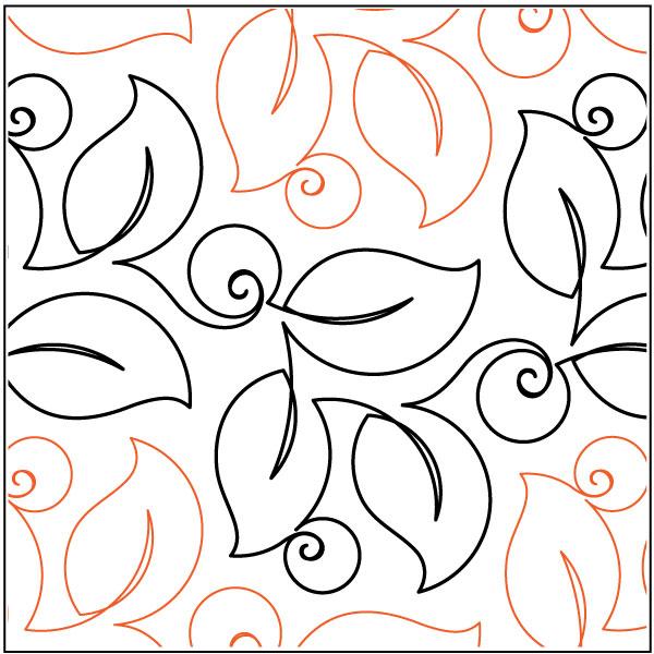 Bush-Berries-quilting-pantograph-pattern-Lorien-Quilting