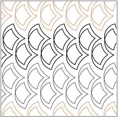Clamshells quilting pantograph pattern by Lorien Quilting : lorien quilting - Adamdwight.com