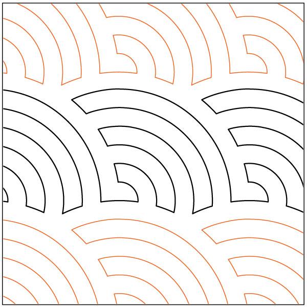 Continuous-Baptist-Fans-quilting-pantograph-pattern-Lorien-Quilting