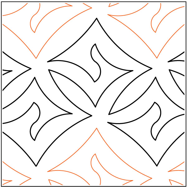 Dazzle quilting pantograph pattern by Lorien Quilting : long arm quilting pantographs - Adamdwight.com
