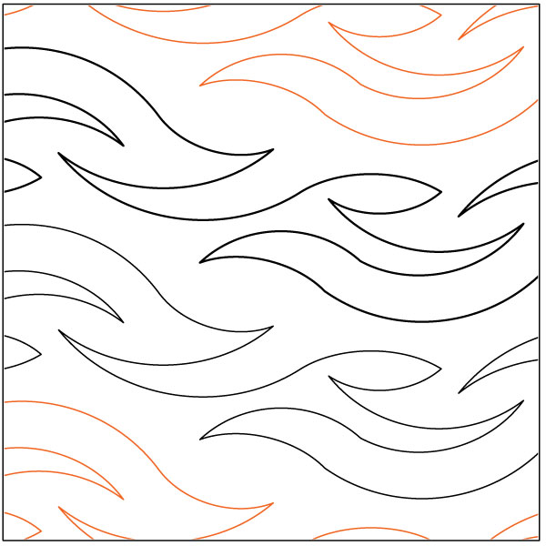 Ebb And Flow Quilting Pantograph Pattern By Lorien Quilting