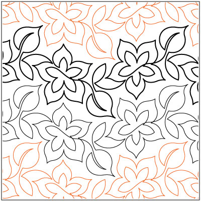 Floriana quilting pantograph pattern by Lorien Quilting : lorien quilting - Adamdwight.com