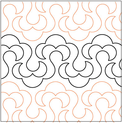 Pantograph Patterns For Long Arm Quilting : Fluffy quilting pantograph pattern by Lorien Quilting