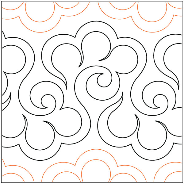 Halcyon Quilting Pantograph Pattern By Lorien Quilting