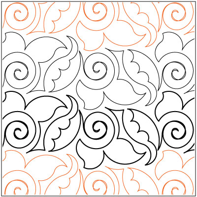 Jacobean Flourish quilting pantograph pattern by Lorien Quilting : lorien quilting - Adamdwight.com