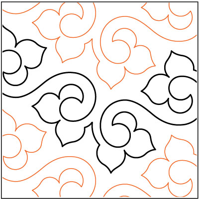 Pantograph Patterns For Long Arm Quilting : Lithe quilting pantograph pattern by Lorien Quilting