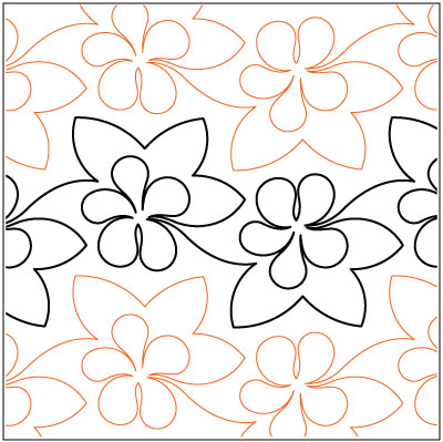 Luau quilting pantograph pattern by Lorien Quilting : lorien quilting - Adamdwight.com