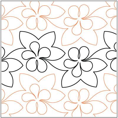 Luau quilting pantograph pattern by Lorien Quilting : lorien quilting - Adamdwight.com