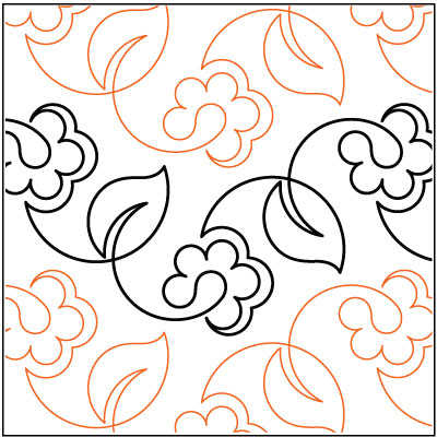 Spring Vine quilting pantograph pattern by Lorien Quilting